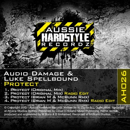 Audio Damage & Luke Spellbound - Protect - Aussie Hardstyle - 05:36 - 04.12.2011