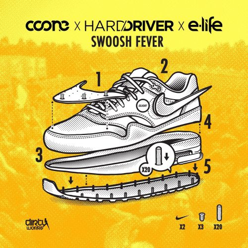Coone, Hard Driver and E-Life - Swoosh Fever - Dirty Workz - 04:38 - 15.12.2014
